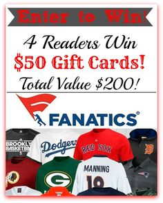 4 Readers Win $50 Gift Cards from Fanatics.com!