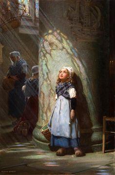 Herbert James Draper (English, 1864-1920). The Golden Rays