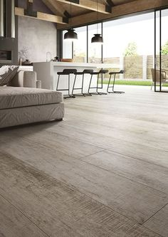 Cotto d'Este - Porcelain tiles and Kerlite for Floors and Walls Interior Architecture, Interior And Exterior, Timber Flooring, Basement Flooring, Interior Design Living Room, Living Spaces, Hardwood, Sweet Home, New Homes