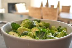 Brussels Sprouts ready to be turned into Brussels Sprouts Gratin in this easy and delicious Brussels Sprouts Gratin recipe.