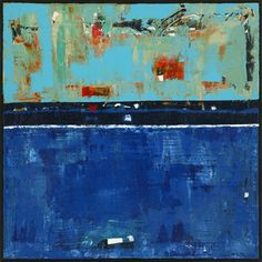 Dress Blues is a blue abstract landscape painting by Shawn McNulty.  Tags: art, painting, drawing, acrylic, oil, landscape, mixed media