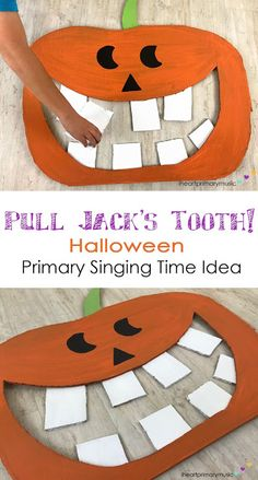 Halloween Primary Singing Time Idea perfect for October!You can find Singing time and more on our website. Primary Activities, Church Activities, Halloween Activities, Primary Singing Time, Primary Music, Lds Primary Songs, Visiting Teaching Handouts, Primary Teaching, Music Lessons For Kids