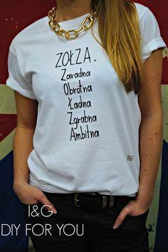 I&G ZOŁZA , MALOWANA RĘCZNIE - IandG_diy_for_you - Koszulki i bluzy
