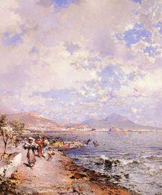 La baie de Naples - (Franz Richard Unterberger)