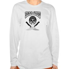 Head Chef Skull (b&w) Tee Shirts