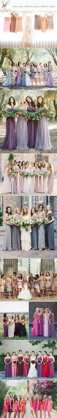 Top 6 Ways to Do Mismatch Bridesmaid Dresses | http://www.deerpearlflowers.com/top-6-ways-to-do-mismatch-bridesmaid-dresses/