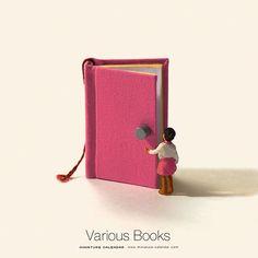 . Various Books #読書の日 (今日から #読書週間 )ということで、これまでの作品の中から本に関するアイデアを集めてみました。
