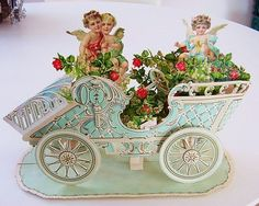 Beautiful Large Victorian Valentine Embossed Fold Out Die Cut 4 Tier Pop Out   eBay