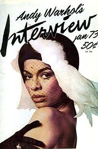 Nicaraguan fashion icon and Human Rights Advocate BIANCA JAGGER on the cover of Andy Warhol`s Interview, January Bianca Jagger, Mick Jagger, Andy Warhol, Cultura Pop, Naomi Campbell, Twiggy, Top Models, Charlotte Rampling, Alexa Chung