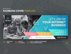 Internet Business Facebook Cover Template AI, EPS Facebook Cover Template, Creative Studio, Web Development, Web Design, Internet, Templates, Let It Be, Business, Design Web
