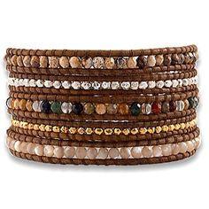 Aspiring Rainbow Multi-colour & Silver Macrame Wrapped Adjustable Bracelet Bangle Bracelets Jewelry & Watches