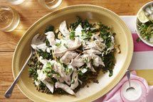 Poached Chicken Breasts.......http://lowfatcooking.about.com/od/chickenbreastrecipes/r/poachedchicken.htm