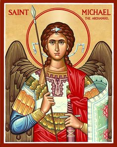 Browse the entire collection of Catholic Icons, such as this Saint Michael the Archangel Icon, today at Monastery Icons. St Michael Archangel Prayer, St Michael Prayer, Archangel Prayers, Archangel Gabriel, Monastery Icons, Spiritual Armor, San Rafael, San Gabriel, Christ The King