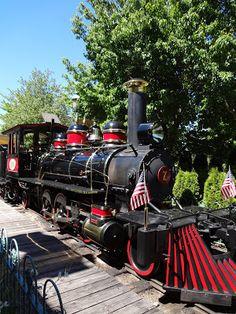 original steam engine at Silverwood Theme Park - Idaho, USA