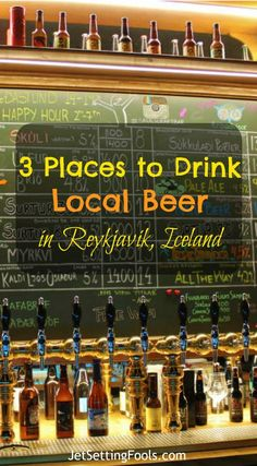 Stay out of the bars. That's the #1 tip for budget travelers visiting Iceland. The best budget tip for those wanting to imbibe in Iceland and to save money is to purchase alcohol at the duty-free shop at the airport on arrival. While we clearly fall into the Budget Traveler category, there was zero chance we were going to bypass trying a few local brews at a pub. It is, after all, our preferred method of meeting and mingling with locals. We sacrificed the budget and found 3 places to drink.