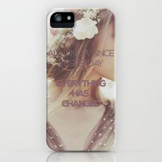 Everything Has Changed - Taylor Swift Lyric iPhone & iPod Case by Leigh / losinghimwasblue - $35.00