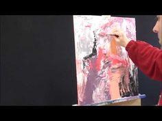 La pintura abstracta con espátula y textura / color T - 10 - YouTube
