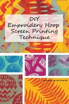 DIY screen printing with this FREE tutorial! Create one-of-a-kind printed fabric when you learn how to use an embroidery hoop instead of a screen printing frame.