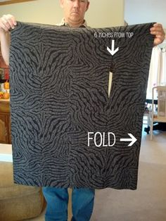 No sew vest - the reason I pinned this is only because of the uncomfortable man holding the zebra print fabric. Lololol