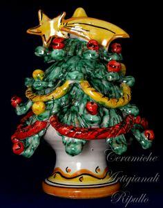 Christmas tree in ceramics of Caltagirone -Ceramiche Ripullo- www.ceramicheripullo.com