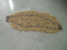 """Tapetesa: Tapetes de crochê em barbante de frutas para cozinha """"misto"""""""
