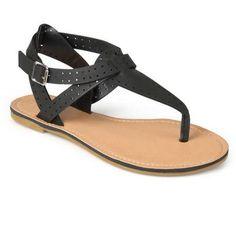 0234f417e Brinley Co. Womens T-strap Caged Sandals - Walmart.com