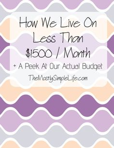 How We Live On Less Than $1500 A Month + A Peek At Our Budget