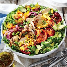 Grilled Chicken and Vegetable Summer Salad Recipe