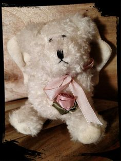 Collectible Boyds White Angel Ornament Bear with by Flavsantiques