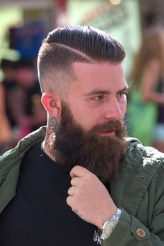 beautiful full thick dark beard and mustache bushy beards bearded man mens' style hair cut hairstyles for men tattoos tattooed handsome #beardsforever