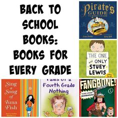 Back-to-school books organized for grades 1-5.