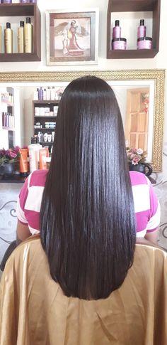 Side Bangs Hairstyles, Loose Hairstyles, Straight Hairstyles, Long Blunt Hair, Long Dark Hair, Middle Length Hair, Silk Hair, Hair Quality, Beautiful Long Hair