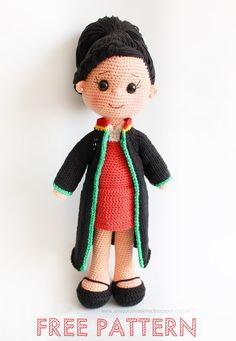Amigurumi Aşkına: Amigurumi Avukat Bebek Yapılışı-Amigurumi Lawyer Doll Free Pattern