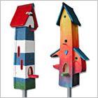 Vogelvilla exklusiv - kombiniertes Vogelhaus mit Nistkasten