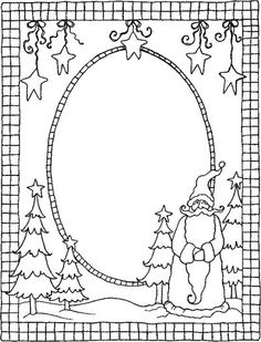 christmas picture frames coloring pages - photo#3