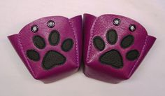 Magenta leather Roller Derby skate toe guards with by RedRage77, £18.00