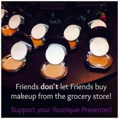 An irresistibly touchable  foundation in 10 touchable shades. These cream and pressed powder foundations are supple and lightweight. Your skin feels soft, touchable, and comfortably covered without ever feeling caked on or heavy. www.youniqueproducts.com/DebraAllen