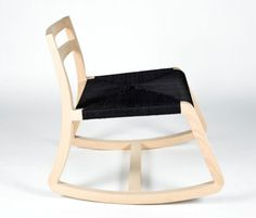 enea wooden rocking chair by alberto sanchez for mut design