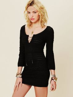 Free People Amethyst Knit Tunic,   I would love this dress in the fall.