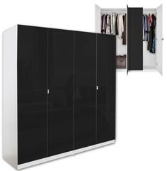 Our basic wardrobe package is a pair of double door freestanding wardrobes that's especially designed to go easy on the wallet. Quality is not compromised with these basic double wardrobes. The basics are as solid as any of our wardrobes. 4 Door Wardrobe, Double Wardrobe, Wardrobe Basics, Room Closet, Double Doors, Closet Ideas, Wardrobes, Storage Ideas, Tall Cabinet Storage