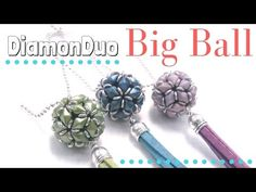How to make a DiamonDuo Ball - Full tutorial with pattern Beading Ideas. Do you want to try our Diamonduo Ball full kit set? Discover how easy is to work with our beading tutorials and you have now the opportunity to work with diamonduo beads one Bead Crochet Patterns, Beaded Jewelry Patterns, Beading Patterns, Beading Ideas, Bracelet Patterns, Embroidery Patterns, Loom Patterns, Seed Bead Bracelets, Seed Beads