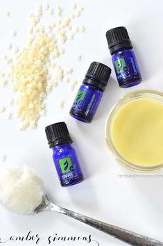 Homemade Moisturizing Facial Balm | Lotion | Dry Skin | Face Cream Recipe | Essential Oils | Coconut Oil | All Natural | ambersimmons.com