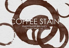 Pack contains 15 high quality hand crafted coffee stain brushes, 2500+ pixels size. Create professional graphic effects in seconds!