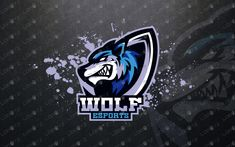 Here we have a jaw dropping, eye-catching, awesome and powerful gaming wolf mascot logo that will fit well in any great gaming clan, eSports team Game Logo Design, Esports Logo, Youtube Logo, Logo Google, Cool Logo, Illustration, Animals, Fictional Characters, Logo Ideas