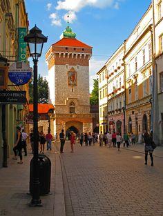 Krakow Brama Florianska, Poland