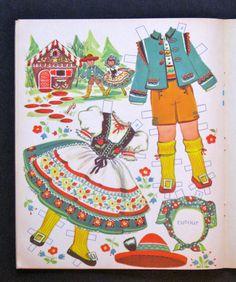 """""""Cinderella"""" Jack and Jill Story Favorites Uncut Paper Dolls Vintage   eBay"""
