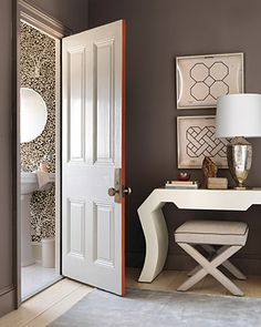 love the idea of painting just the edge of a door!