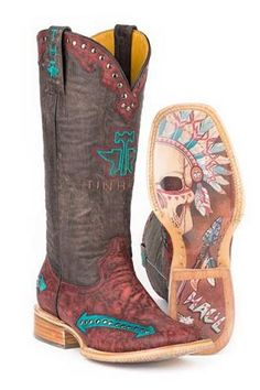 Tin Haul Women's Arrowhead Chief Western Cowgirl Boots - RE Cowgirl Style, Cowgirl Boots, Riding Boots, Western Wear, Western Boots, Country Boots, Mode Country, Country Life, Rodeo Outfits
