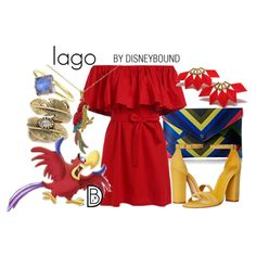 Iago by leslieakay on Polyvore featuring Schutz, Danielle Nicole, Natalie B, disney and disneybound