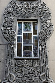 Window in Poznań, Poland